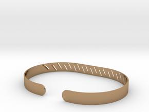 Angled Stripe Bracelet in Polished Brass