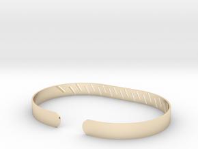 Angled Stripe Bracelet in 14k Gold Plated Brass