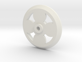 PCB Motor - 4-Pole 16mm Rotor in White Natural Versatile Plastic