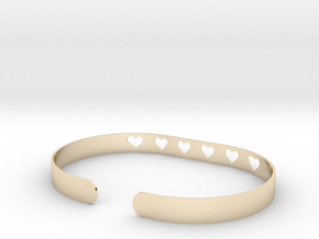 Heart Bracelet in 14K Yellow Gold