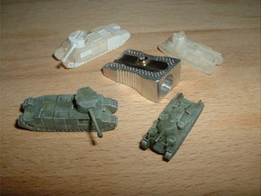 TOG & Independent Heavy Tanks 1/200 in Smooth Fine Detail Plastic
