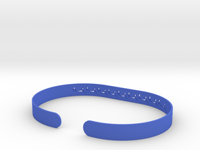 Ocean Wave Bracelet in Blue Processed Versatile Plastic