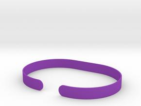 Round .25in Bracelet in Purple Processed Versatile Plastic