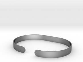 Round .25in Bracelet in Polished Silver