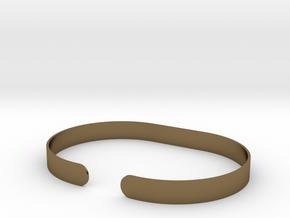 Round .25in Bracelet in Polished Bronze