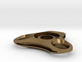 Micro Mini solid fidget spinner in Natural Bronze