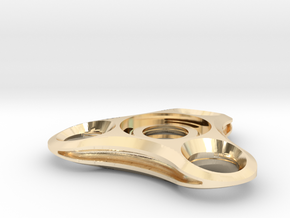 Micro Mini solid fidget spinner in 14K Yellow Gold