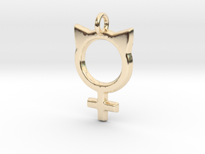 Female Symbol with Cat Ears in 14K Yellow Gold