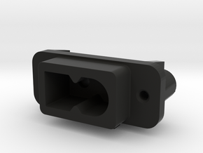 AC-M09 Compatible AC Socket for Saturn in Black Natural Versatile Plastic