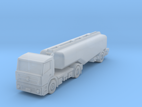 Fuel truck trailer 3axle v1 in Smoothest Fine Detail Plastic: 1:400