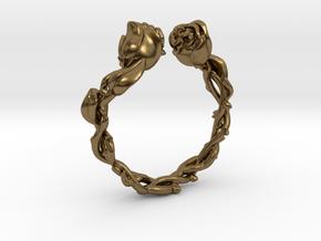 Roses Ring in Natural Bronze: 5 / 49