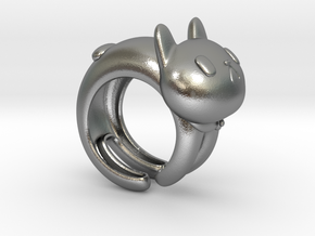 CatRing size 8 in Natural Silver