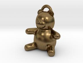 Tiny Teddy Bear w/loop in Natural Bronze