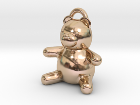 Tiny Teddy Bear w/loop in 14k Rose Gold Plated
