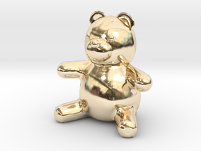 Tiny Teddy Bear (no loop) in 14K Yellow Gold