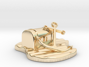 Atez Treasure Chest  in 14k Gold Plated Brass
