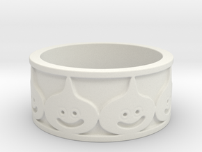 Metal Slime Dragon Warrior Ring Size 6.5 in White Natural Versatile Plastic