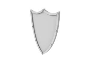 Tower Shield - Plain in Smoothest Fine Detail Plastic