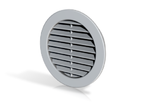 Vent Insert - 50mm hole internal louvers in White Strong & Flexible