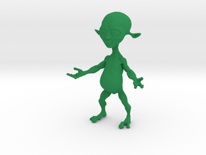 Little Alien  in Green Processed Versatile Plastic