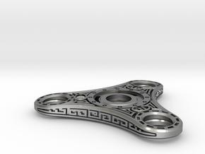 "Skyrim ""Dwemer"" style Fidget Spinner - metal R188  in Natural Silver"