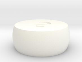 d2 Sphere Dice in White Processed Versatile Plastic