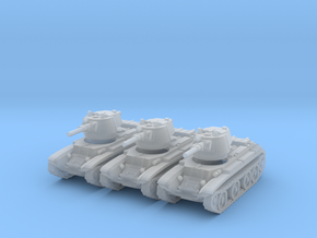 1/220 scale BT-7 tank in Smooth Fine Detail Plastic
