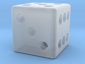 Weighted Dice (Favors a Roll of 3) in Smooth Fine Detail Plastic
