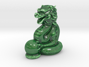 Dragon Statue in Gloss Oribe Green Porcelain