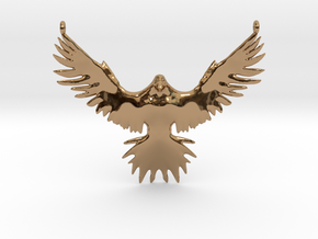 Falcon Amulet in Polished Brass