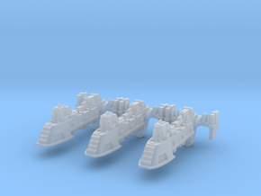 Cargo Ships (3) in Smooth Fine Detail Plastic