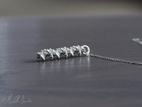 Molecular DNA Pendant in Natural Silver