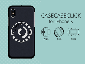 for iPhone X : smooth : CASECASE CLICK in Black Strong & Flexible