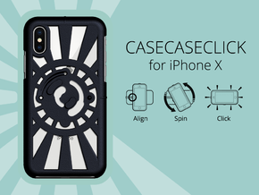 for iPhone X : redial : CASECASE CLICK in Black Strong & Flexible