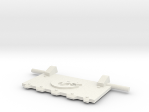 Shark God-Hammer Tank front hatch in White Natural Versatile Plastic