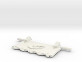 Shark God-Hammer Tank front hatch in White Natural Versatile Plastic
