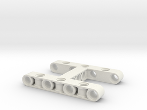 Dogbone 7x5 in White Natural Versatile Plastic