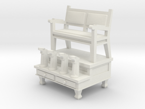 Shoeshine Stand 28mm -- Pulp Alley in White Natural Versatile Plastic