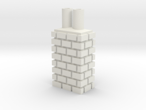 City Chimney 28mm -- Pulp Alley in White Natural Versatile Plastic