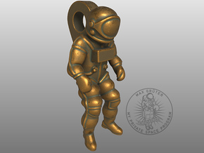 Astronaut Earring Pendant / 21mm in Natural Bronze