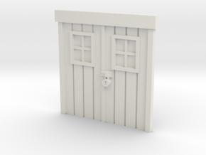 City Double-Door 28mm -- Pulp Alley in White Natural Versatile Plastic