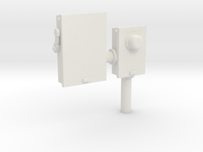 City Junction Box #1 28mm -- Pulp Alley in White Natural Versatile Plastic