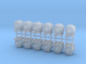 Motor für moderne E-Lok auf Europalette 12erSet -  in Smooth Fine Detail Plastic