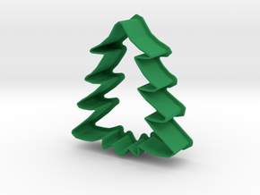 Christmas Tree Cookie Cutter in Green Processed Versatile Plastic