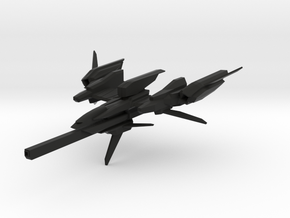 """CZ-981A """"Cruiser"""" Space Fighter in Black Strong & Flexible: 6mm"""