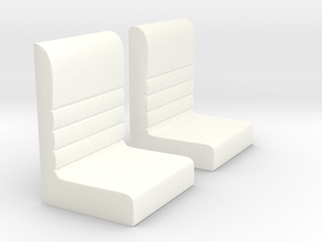 Futurliner Seats in White Processed Versatile Plastic