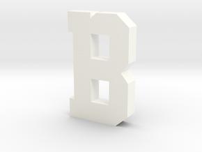 Decorative Letter B in White Processed Versatile Plastic
