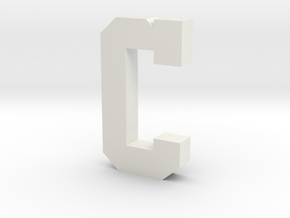 Decorative Letter C in White Natural Versatile Plastic