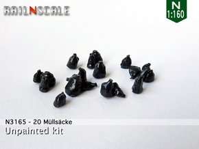 20 Müllsäcke (N 1:160) in Smooth Fine Detail Plastic