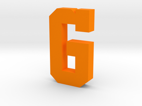 Decorative Letter G in Orange Processed Versatile Plastic
